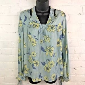 Current Air ASOS Floral Blouse Womens Size Large
